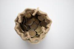 Una borsa di soldi Immagini Stock Libere da Diritti