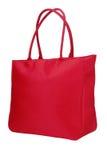 Una borsa rossa del panno Immagini Stock