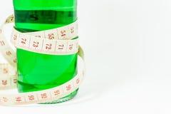 Una botella de jarabe verde Imagen de archivo libre de regalías