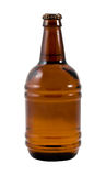 Una bottiglia di birra sul contesto bianco Fotografia Stock