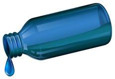 Una bottiglia medica blu illustrazione di stock