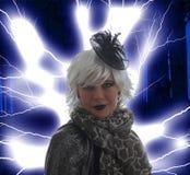 Una bruja traviesa fotos de archivo libres de regalías