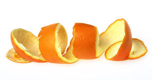 Una buccia d'arancia. Fotografia Stock