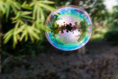 Una burbuja colorida grande Imagen de archivo libre de regalías