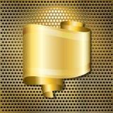 Burbuja de Goldenspeech Imagen de archivo libre de regalías