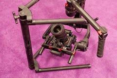 Una cámara de vídeo profesional Foto de archivo libre de regalías