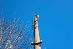 Una cámara de vigilancia en el parque Imagenes de archivo