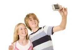 Una cámara rápida Selfie Foto de archivo