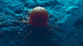 Una célula cancerosa libre illustration