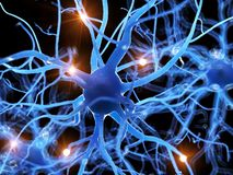 Una célula nerviosa humana stock de ilustración