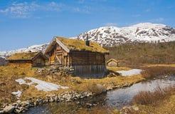 Una cabaña de la montaña en Noruega 2 Imágenes de archivo libres de regalías