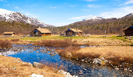 Una cabaña de la montaña en Noruega Fotografía de archivo