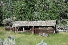 Una cabaña de madera abandonada en Wyoming Imagen de archivo