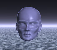 Una cabeza extranjera misteriosa Imágenes de archivo libres de regalías