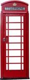 Una cabina de teléfonos británica aislada Imágenes de archivo libres de regalías