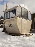 Una cabina di funivia storica rinviata dalla teleferica al Arber più lordo Immagini Stock