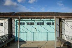 Una cabina sola della spiaggia in Hampton New York orientale Immagini Stock