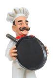 Una cacerola de la explotación agrícola del cocinero del hombre Imagen de archivo