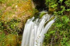 Una caduta dell'acqua in un parco naturale immagine stock libera da diritti