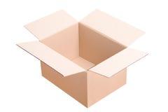 Una caja de cartón abierta Imagenes de archivo