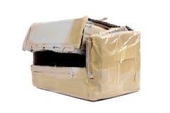 Una caja de cartón marrón abierta Imagen de archivo libre de regalías