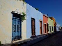Una calle bonita en Campeche en México fotos de archivo libres de regalías