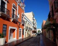 Una calle bonita en Campeche en México foto de archivo