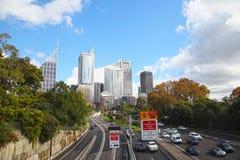 Una calle de CBD en Sydney Fotografía de archivo libre de regalías