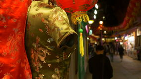 Una calle de Chinatown en Londres almacen de video