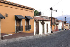 Una calle del pueblo foto de archivo