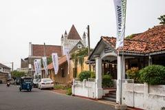 Una calle en el fuerte de Galle, Galle, Sri Lanka fotos de archivo libres de regalías