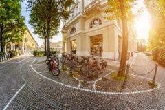 Una calle en Italia tono fotos de archivo libres de regalías
