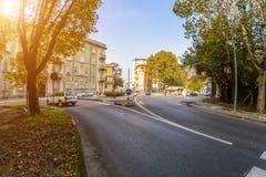 Una calle en Italia Tono del camino fotografía de archivo