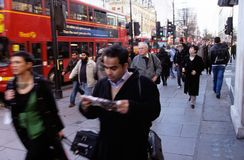 Una calle en Londres Foto de archivo libre de regalías