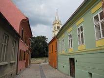 Una calle en Sighisoara Rumania imagen de archivo libre de regalías