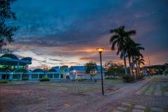 Una calma e un tramonto di rilassamento Fotografia Stock