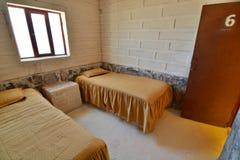 Una camera da letto dell'hotel del sale Villaggio di yuan di San Dipartimento di Potosi bolivia Fotografia Stock