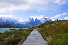 Una camminata nel patagonia Fotografia Stock