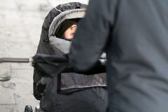Una camminata nella pioggia Fotografia Stock Libera da Diritti
