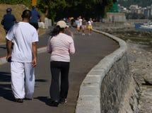 Una camminata sulla parete immagine stock libera da diritti