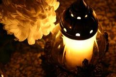 Una candela immagini stock