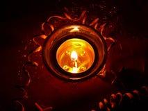 Una candela di natale Immagine Stock