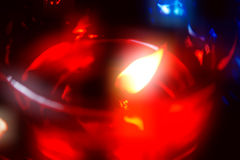 Una candela di natale Immagine Stock Libera da Diritti