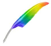 Una canilla del arco iris aislada en blanco Imagen de archivo