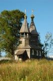 Una cappella di legno antica Fotografie Stock