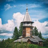 Una cappella di tre san dal villaggio Fotografia Stock