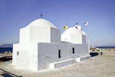 Una cappella greca Immagine Stock