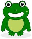 Una cara de la rana verde Imagen de archivo
