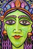 Una cara grande de la reina del tamaño para celebrar Año Nuevo bengalí próximo Imagen de archivo libre de regalías