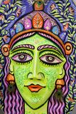 Una cara grande de la reina del tamaño para celebrar Año Nuevo bengalí próximo Fotos de archivo